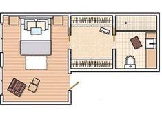 Risultati immagini per plano dormitorio con baño en suite Master Bedroom Plans, Master Bedroom Layout, Bedroom Closet Design, Bedroom Floor Plans, Master Room, Bedroom Layouts, Home Bedroom, Bedrooms, Style At Home