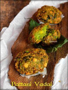 Green peas vada/Pachai pattani vadai/Mutter vada/Matar vada (No Onion No Garlic)   http://www.upala.net/2016/02/green-peas-vadapachai-pattani.html