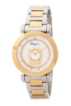 Image of Salvatore Ferragamo Women's Minuetto Diamond Bracelet Watch - 0.004 ctw