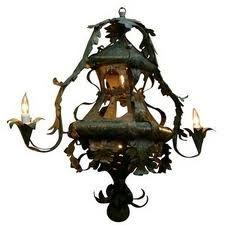 Baroque style 18th century Venetian tole lantern