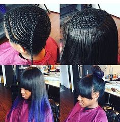 weaved hair styles braid pattern for sew in and lace silk closure 3181 | 3c3181b268812cb1004086d3eec86b43