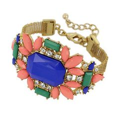 Multi Stone Deco Bracelet
