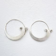 Hill Tribe silver hoops