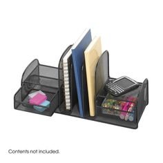Safco 3263BL Onyx™ Three Upright Sections/Two Baskets
