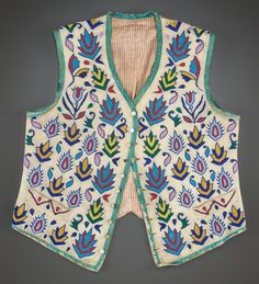 American Indian Art:Beadwork and Quillwork, A SANTEE SIOUX BEADED HIDE VEST . c. 1890...