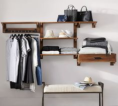 Find home storage solutions for all rooms including entryway, kitchen, and closet at Pottery Barn. Discover organization and storage ideas by the type of room. Laundry Solutions, Storage Solutions, Closet Solutions, End Of Bed Bench, Drying Rack Laundry, Closet Collection, Diy Home, Home Decor, Closet Storage