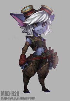 Tristana The Bandle Gunner (Colored) by Mad-H20.deviantart.com on @DeviantArt