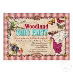 Woodland Fairy Party Invitation