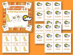 Groundhog Consonant-l-e Syllable Type Groundhog day is coming soon! Here's a fun sorting activity to practice the Consonant-l-e syllable pattern! Groundhog Day Activities, Sorting Activities, Kindergarten Activities, Teacher Freebies, Classroom Freebies, Classroom Ideas, 2nd Grade Ela, Grade 1, Le Words