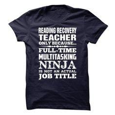 Proud Be A Reading Recovery Teacher #sunfrogshirt