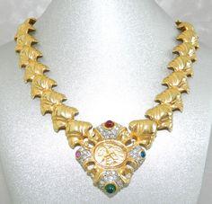 Ladies Vintage 1980s Poured Glass Pave Rhinestones by JeweledLuv, $125.00