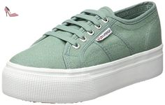 Superga 2790 Acotw, Sneakers basses femme - Vert - Green (Green Malachite),