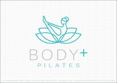 Logo for sale: Pilates and yoga natural wellness lotus logo design, featuring a stylized female figure in a yoga/pilates pose. The female figure is designed to flow seamlessly into a blossoming lotus Pilates Logo, Studio Pilates, Pilates Poses, Yoga Pilates, Lotus Logo, Spa Logo, Medical Logo, Fitness Logo, Fitness Design