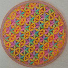 Fiore della vita con cristalli di svarofski