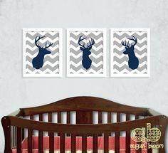 Deer Print Set  Deer Nursery  Hunting by AugustBloomDesigns, $28.95