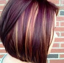 Image result for shoulder length hairstyles with multi colors for wavy hair
