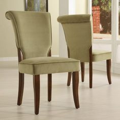 Homelegance Alamosa Velvet Parson Chairs - Set of 2 | Jet.com