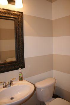 Bathroom Horizontal Stripe Design. Perfect to make the bathroom look on asian inspired bathroom design, vintage inspired bathroom design, hippie bathroom design, safari style bathroom design, houzz bathroom design, camo bathroom design, industrial chic bathroom design,