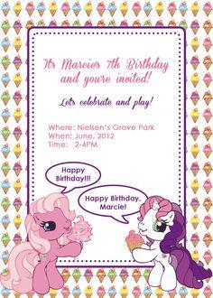 Ponies and Ice Cream Birthday Party