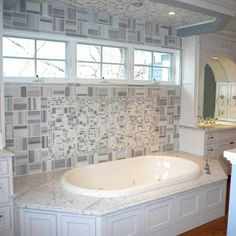 Beautiful bathroom remodel with Carrara marble