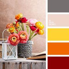 """""""пыльный"""" оранжевый, бежевый, бледно-желтый, грязный оранжевый, желтый и серый, морковный, огненные тона, оранжевый, оттенки рыже-коричневого, перламутровый цвет, серый и грязно-белый, серый и оранжевый, теплый серый, цвет"""