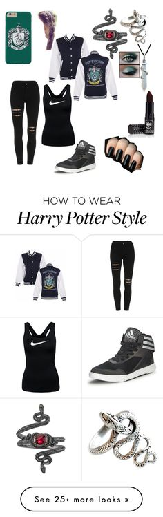"""""""Slytherin Girl"""" by kaiulani0907 on Polyvore featuring Bling Jewelry, Manic Panic, adidas and NIKE"""