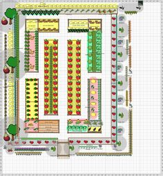 Garden Plan - 2014: Main Garden, the description of this beautiful potager is home functional garden, it may be both but it is also wonderfully designed, Has a great range of flowers, perennial fruit and salad crops, gorgeous structure, 3 fig trees and several grape vines. It is all edged with flowers for the home and for pollinators, tall sunflowers along the edge, it is delightful.All in partial shade!
