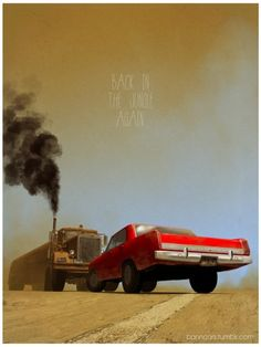 duel spielberg tanker bannister banncars movie poster