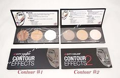 Set of 2 City Color Contour Effects #1 and #2 Contour Bronze and Highlight Palette