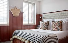 Shoreditch House has 26 bedrooms, and guests have access to the club, gym, restaurants and spa. Barn Bedrooms, Guest Bedrooms, Soho House Shoreditch, Room Reservation, Bedroom Furniture Design, Bedroom Interiors, Eclectic Design, Spare Room, House Rooms