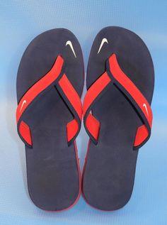 NIKE Celso Flip Flops Thong Slides Sandals Women's Sz 7/38 Red White Blue #Nike #FlipFlops #Casual