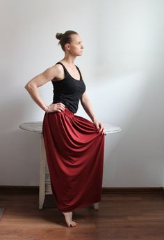 Red Skirts, Summer Skirts, Hippie Skirts, Gray Skirt, Cotton Skirt, Pencil Dress, Beautiful Outfits, Boho Fashion, Formal