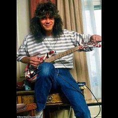 Eddie Van Halen at home, early 1980's.