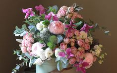 The Real Flower Company Spring Pastel Pink & Ivory Rose Bouquet