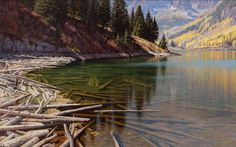 Jay Moore oil - really great transition from dry to submerged logs