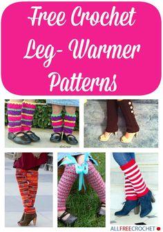 15 Free Crochet Leg Warmer Patterns- get a head start on your fall fashion!