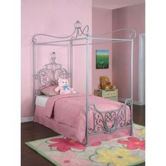 Princess Rebecca 'Sparkle Silver' Twin Metal Canopy Frame - 374-106