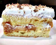 Reteta culinara Desert prajitura cu mere caramelizate din categoria Prajituri. Cum sa faci Desert prajitura cu mere caramelizate