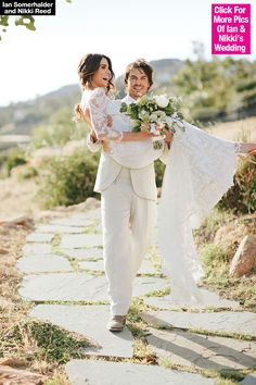 Well, finally! Months after their lavish wedding, Ian Somerhalder and Nikki Reed have revealed photos from their big day. Unsurprisingly, they are drop dead gorgeous. Check 'em out and treat your eyes to some beauty!