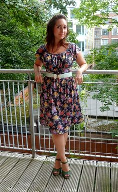 Floral dress with bow belt