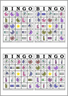 Bingo de Fracciones                                                       …                                                                                                                                                                                 Más
