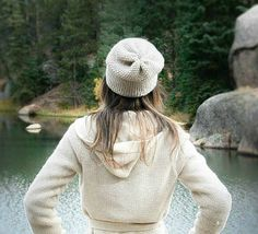 """So when I posted the super easy """"Favorite Crochet Slouch Hat"""", I knew that I would have to knit something similar because I liked it so much! There were also a few requests for a knit v…"""