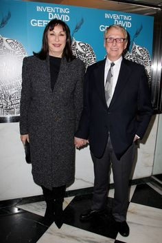 Anjelica Houston & Mike Nichols at #InventingDavidGeffen Premiere @ Paris Theater in #NYC on Nov 5, 2012