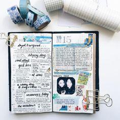 Exploring grids in Week 015. #midoritravelersnotebook #travelersnotebook…