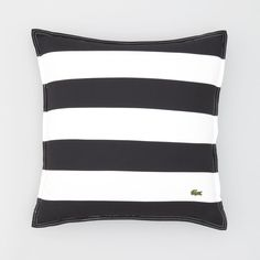 "Lacoste Striped Pieced Pillow, 18"" x 18"""