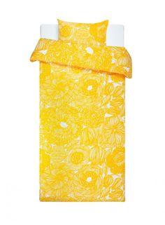 Kurjenpolvi duvet cover set by Marimekko (in yellow)