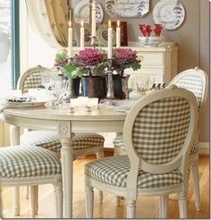 If you need a bench anywhere in your home, don& pass this one by! With a stylish design and a lovely two tone finish, it is sure to complement your home and give you the extra seating you need. Bench only. French Country Dining Room, French Country Kitchens, French Country House, Country Charm, Country Style, French Decor, French Country Decorating, Table And Chairs, Dining Chairs