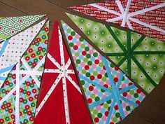 4. First Christmas Tree Skirt wedges   by thundymac
