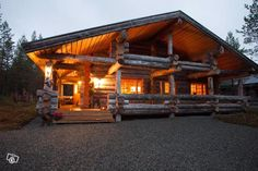 Luxury log cabin, Ruka Finland