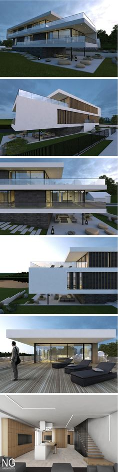 Best Ideas For Modern House Design & Architecture : – Picture : – Description modern house in Kaunas by Ng architects ngarchitects. Architecture Design, Beautiful Architecture, Residential Architecture, Contemporary Architecture, Villa Design, Modern House Design, Modern Exterior, Exterior Design, Interior Modern